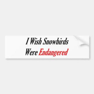 Eu desejo que os Snowbirds estiveram pstos em peri Adesivo Para Carro