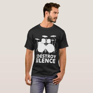Eu destruo o t-shirt do silêncio para bateristas
