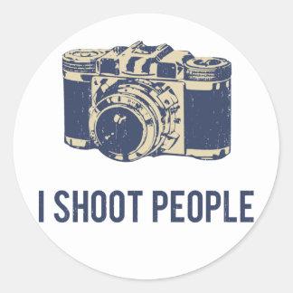 Eu disparo em pessoas da câmera da fotografia adesivo
