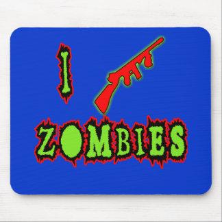 Eu disparo em zombis! Tshirt engraçado do zombi Mouse Pad