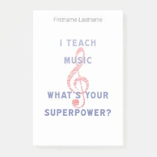 Eu ensino a música o que é sua superpotência sticky note