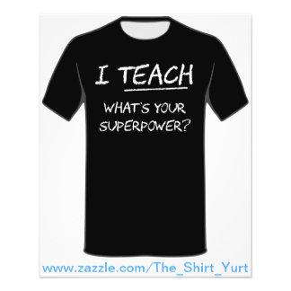 Eu ensino o que é sua superpotência? flyer 11.43 x 14.22cm