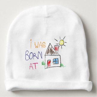 """""""Eu era em casa"""" boné nascido do Beanie do algodão Gorro Para Bebê"""
