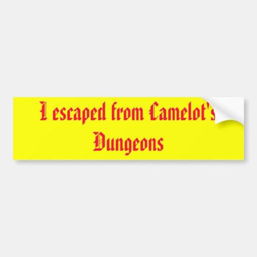 Eu escapei dos Dungeon de Camelot Adesivos