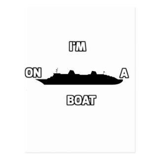 Eu estou em um barco cartão postal
