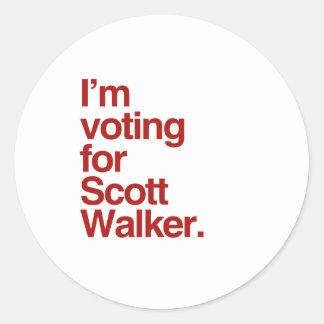 Eu estou votando para o caminhante 2016 de Scott Adesivos Em Formato Redondos