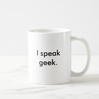 Eu falo o geek. caneca de café