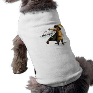 Eu flerto com perigo (a cor) camisa sem mangas para cachorro