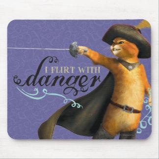 Eu flerto com perigo (a cor) mousepad