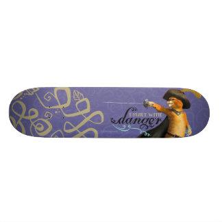 Eu flerto com perigo (a cor) shape de skate 18,7cm