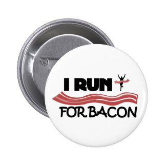 Eu funciono para o bacon - botão do Pin Bóton Redondo 5.08cm