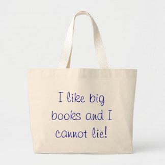 Eu gosto da sacola grande dos livros bolsa