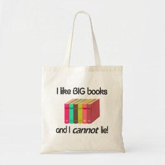 Eu gosto de livros GRANDES Sacola Tote Budget