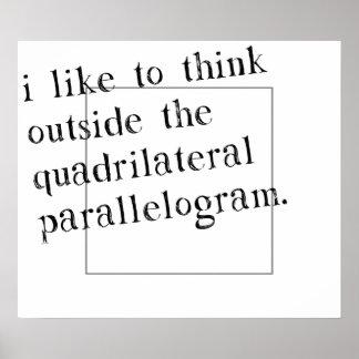 Eu gosto de pensar fora da caixa póster