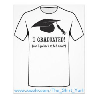 Eu graduei-me!  Posso eu ir para trás colocar Flyer 11.43 X 14.22cm