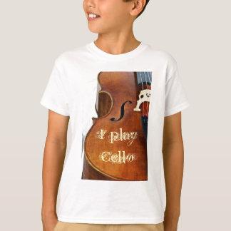 Eu jogo o violoncelo camisetas