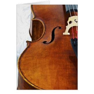 Eu jogo o violoncelo cartão