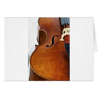 Eu jogo o violoncelo cartão comemorativo