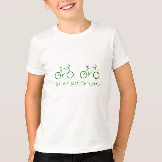 Eu monto minha bicicleta para educar t-shirt