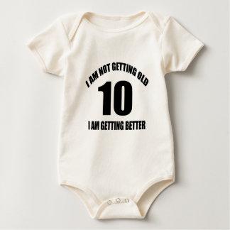 Eu não estou obtendo 10 que velhos eu estou body para bebê