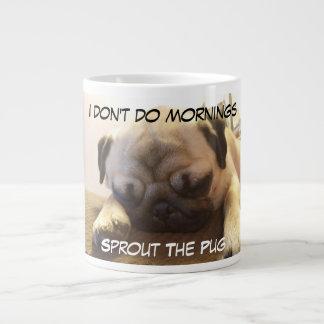 Eu não faço manhãs caneca de café grande