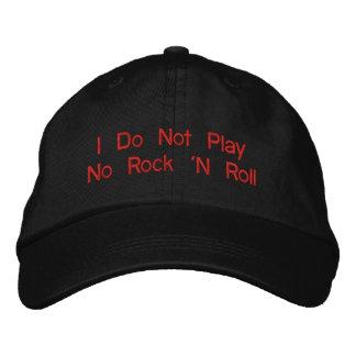 """""""Eu não jogo nenhum rock and roll - chapéu Boné Bordado"""