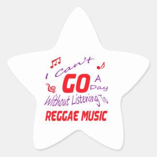Eu não posso ir um dia sem escutar a música da adesivo em forma de estrela