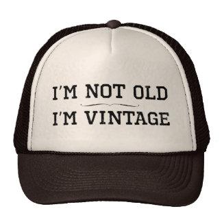 Eu não sou idoso, mim sou vintage (o divisor) boné