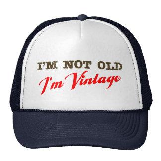 Eu não sou idoso, mim sou vintage (o roteiro) boné