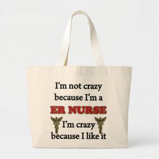 Eu não sou louco bolsas para compras