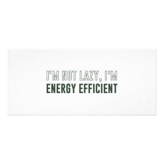 Eu não sou preguiçoso mim sou energia eficiente 10.16 x 22.86cm panfleto