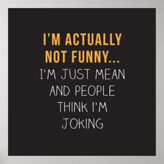 Eu não sou realmente engraçado… Eu sou apenas Poster