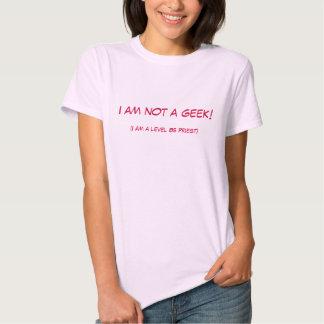 Eu não sou um geek! camisetas