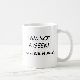 Eu não sou um geek! caneca de café