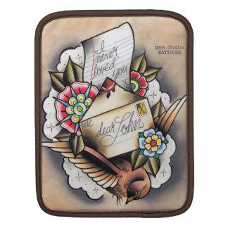 """""""Eu nunca amei-o"""" de """"letra Tattooed caro john"""" Capas Para iPad"""