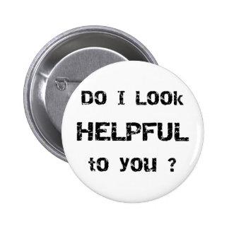 Eu olho útil a você? bóton redondo 5.08cm