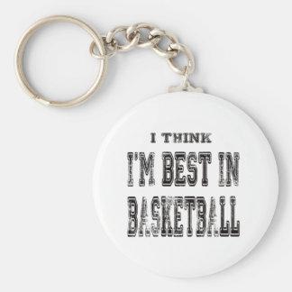 Eu penso que eu sou o melhor no basquetebol chaveiro