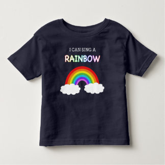 Eu posso cantar a miúdos de um arco-íris o t-shirt