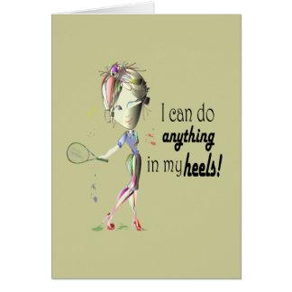 Eu posso fazer qualquer coisa em meus saltos! arte cartão