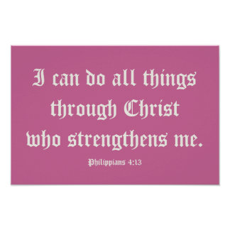 Eu posso fazer todas as coisas com o cristo. Poste Poster