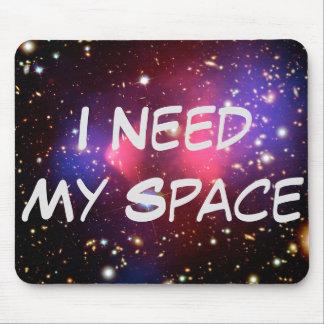 Eu preciso minha mouse pads do espaço