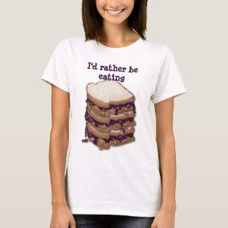 Eu preferencialmente estaria comendo os sanduíches camisetas