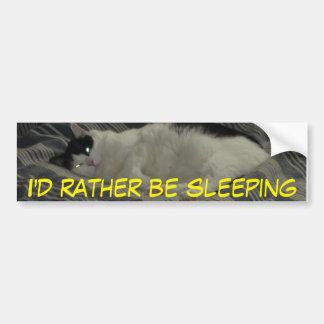 Eu preferencialmente estaria dormindo adesivo para carro