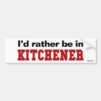 Eu preferencialmente estaria em Kitchener Adesivo Para Carro