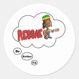 eu preferencialmente estaria jogando a reggae adesivo em formato redondo