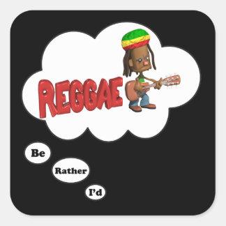 eu preferencialmente estaria jogando a reggae adesivos quadrados