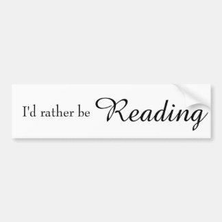Eu preferencialmente estaria lendo adesivo de para-choque