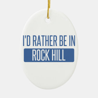 Eu preferencialmente estaria na ilha da rocha ornamento de cerâmica oval