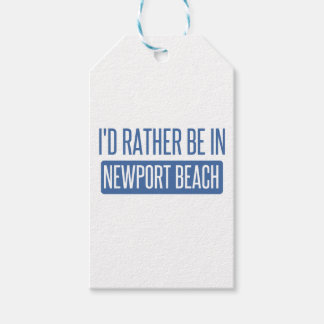 Eu preferencialmente estaria na praia de Newport Etiqueta Para Presente