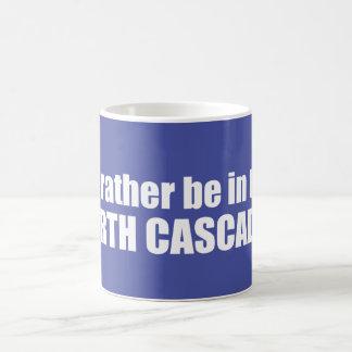 Eu preferencialmente estaria nas cascatas nortes caneca de café